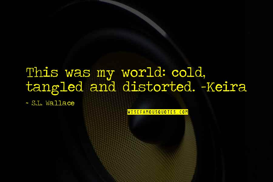 Scifi Quotes By S.L. Wallace: This was my world: cold, tangled and distorted.