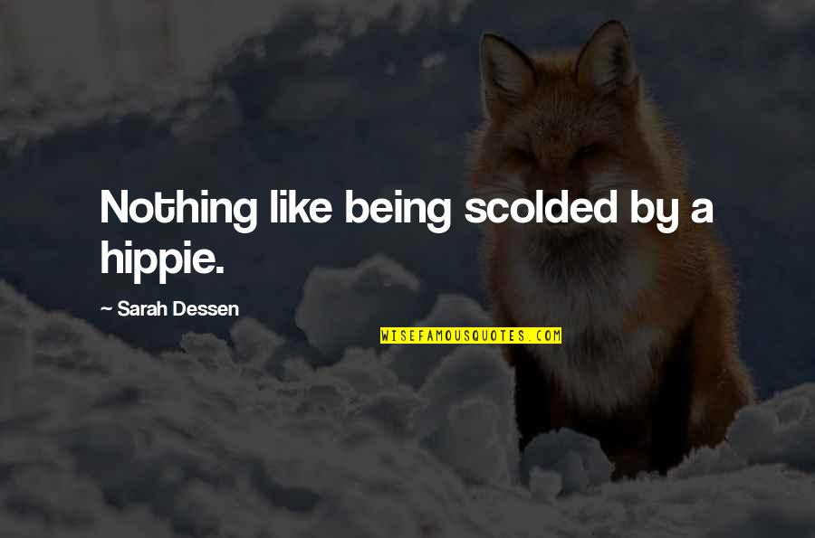 Scolded Quotes By Sarah Dessen: Nothing like being scolded by a hippie.