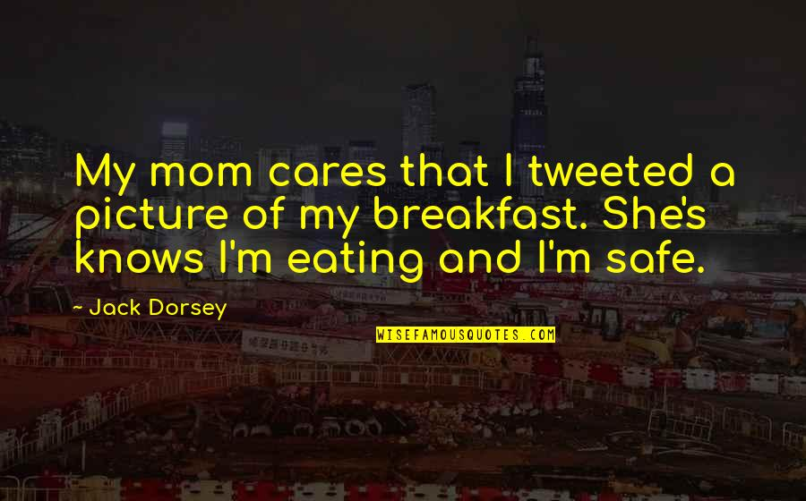 Scott Delacorte Quotes By Jack Dorsey: My mom cares that I tweeted a picture