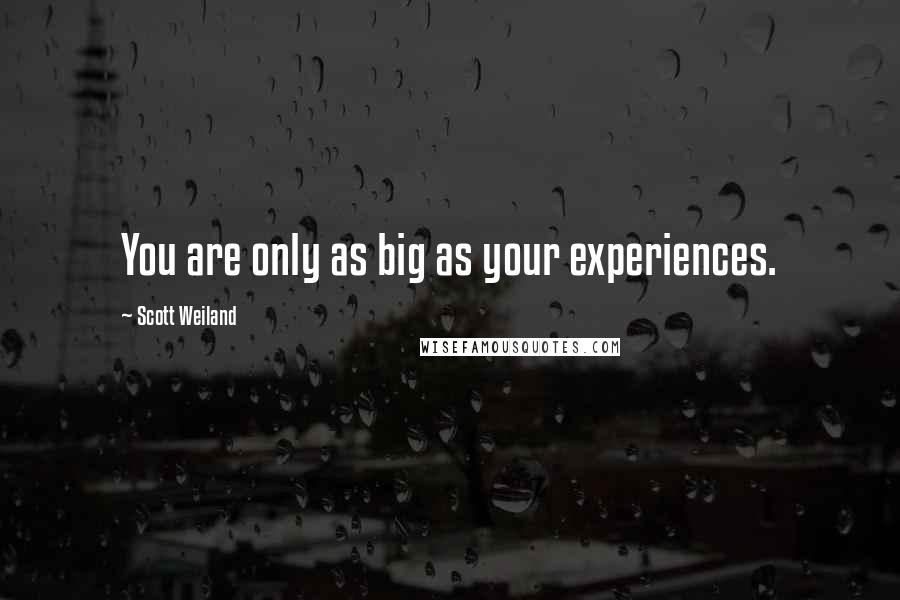 Scott Weiland quotes: You are only as big as your experiences.