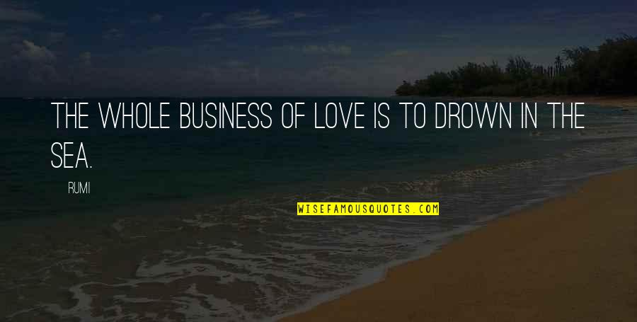 Sea Of Love Quotes By Rumi: The whole business of love is to drown