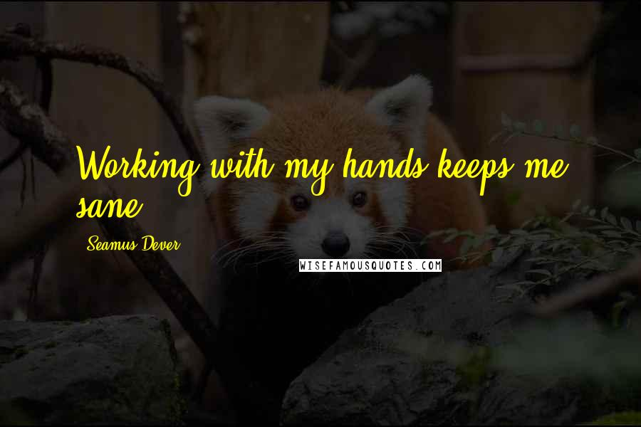 Seamus Dever quotes: Working with my hands keeps me sane.