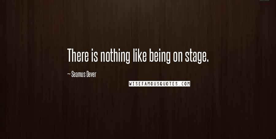 Seamus Dever quotes: There is nothing like being on stage.