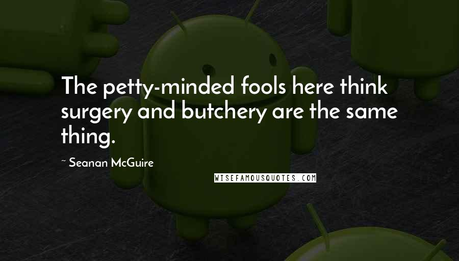 Seanan McGuire quotes: The petty-minded fools here think surgery and butchery are the same thing.