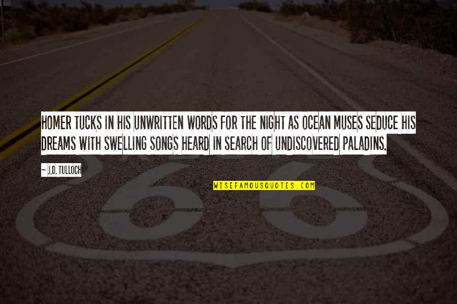 Search'd Quotes By J.D. Tulloch: Homer tucks in his unwritten words for the