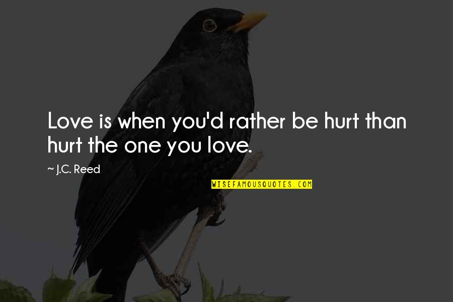Season 6 Episode 23 Grey's Anatomy Quotes By J.C. Reed: Love is when you'd rather be hurt than