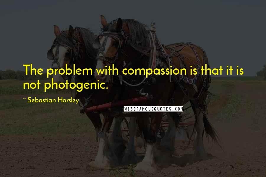 Sebastian Horsley quotes: The problem with compassion is that it is not photogenic.