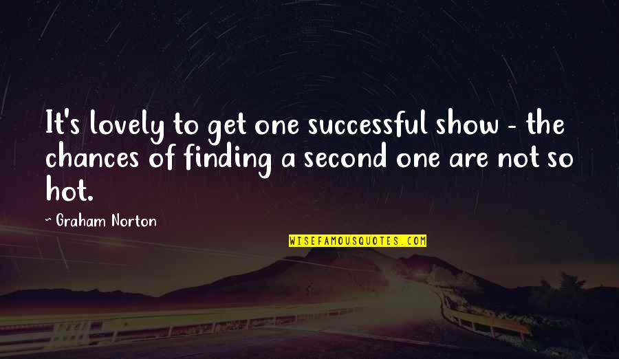 Second Chances Quotes By Graham Norton: It's lovely to get one successful show -
