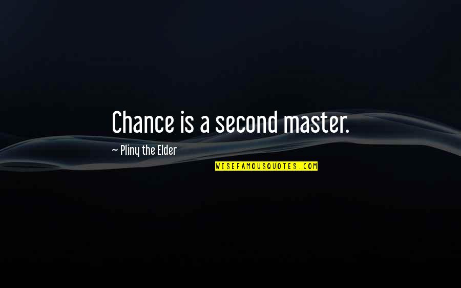 Second Chances Quotes By Pliny The Elder: Chance is a second master.