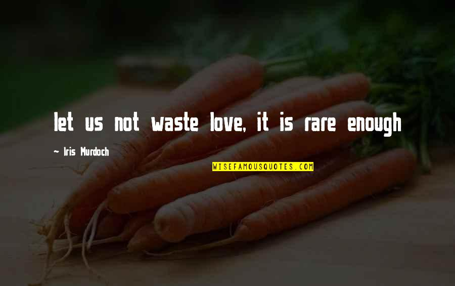 Second Childhood Quotes By Iris Murdoch: let us not waste love, it is rare