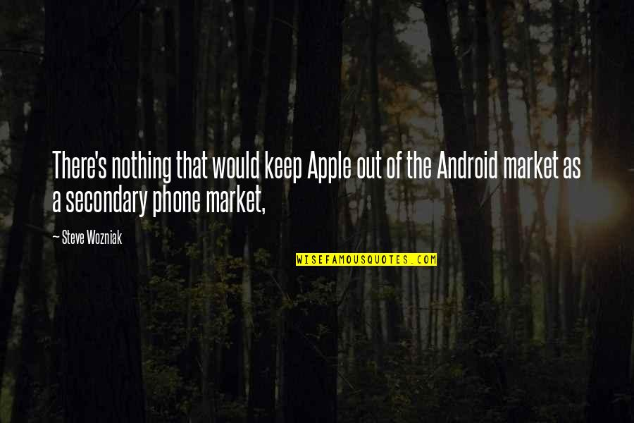 Secondary Market Quotes By Steve Wozniak: There's nothing that would keep Apple out of