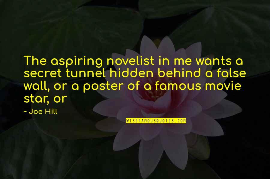 Secret Tunnel Quotes By Joe Hill: The aspiring novelist in me wants a secret