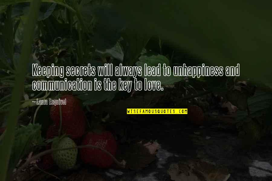Secrets And Love Quotes By Laura Esquivel: Keeping secrets will always lead to unhappiness and