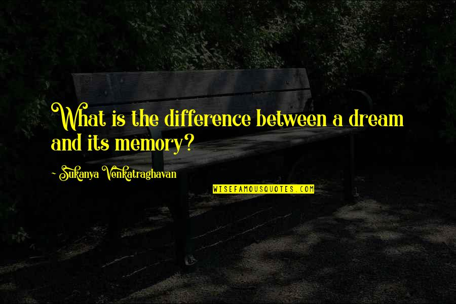 Secrets And Love Quotes By Sukanya Venkatraghavan: What is the difference between a dream and