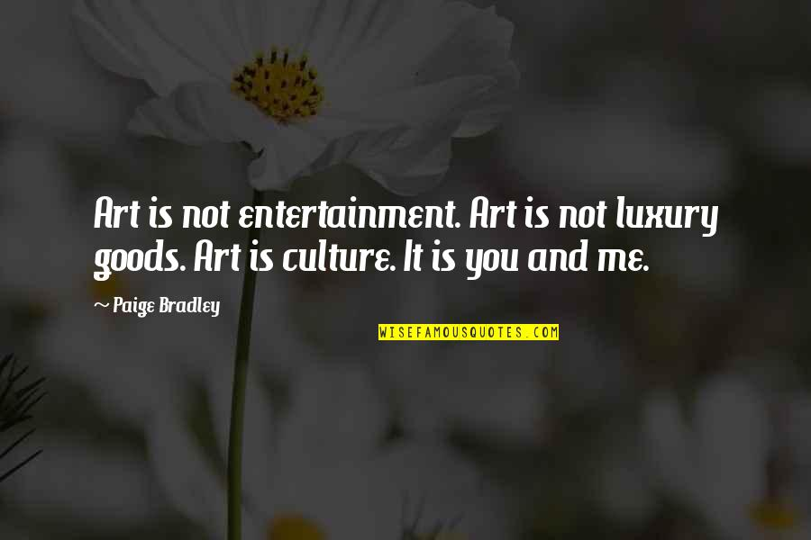 Secrets Between Friends Quotes By Paige Bradley: Art is not entertainment. Art is not luxury