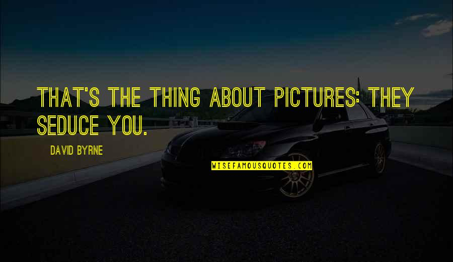 Seduce Quotes By David Byrne: That's the thing about pictures: they seduce you.