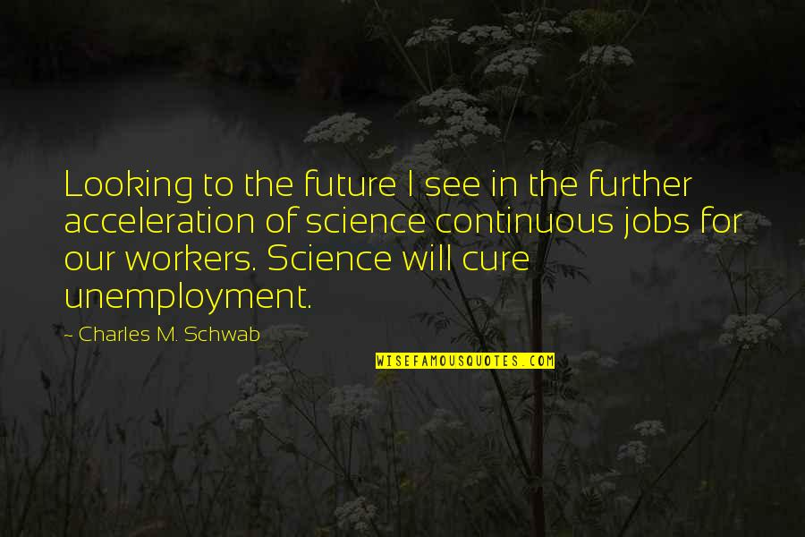 See Further Quotes By Charles M. Schwab: Looking to the future I see in the