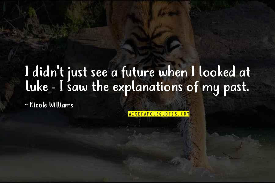 See The Future Quotes By Nicole Williams: I didn't just see a future when I