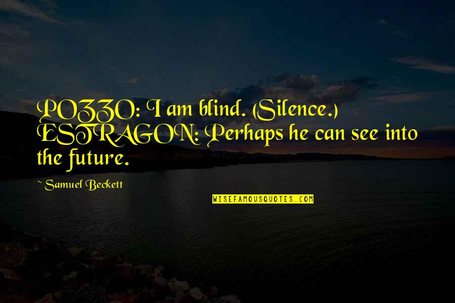 See The Future Quotes By Samuel Beckett: POZZO: I am blind. (Silence.) ESTRAGON: Perhaps he