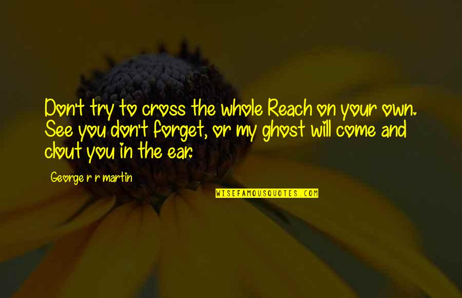 See You Quotes By George R R Martin: Don't try to cross the whole Reach on
