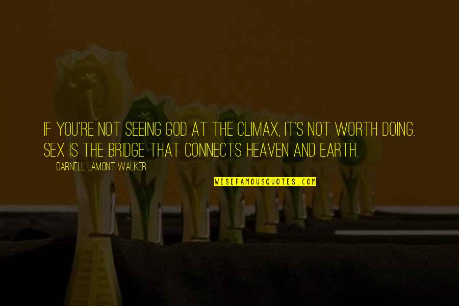 Seeing Beauty Quotes By Darnell Lamont Walker: If you're not seeing God at the climax,