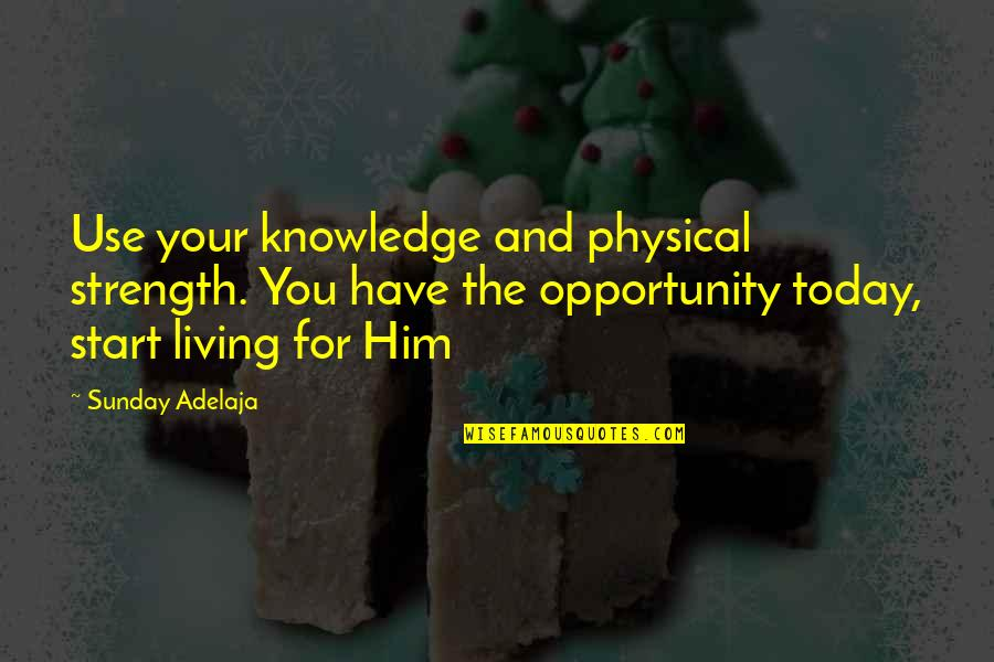 Segregation And Racism Quotes By Sunday Adelaja: Use your knowledge and physical strength. You have