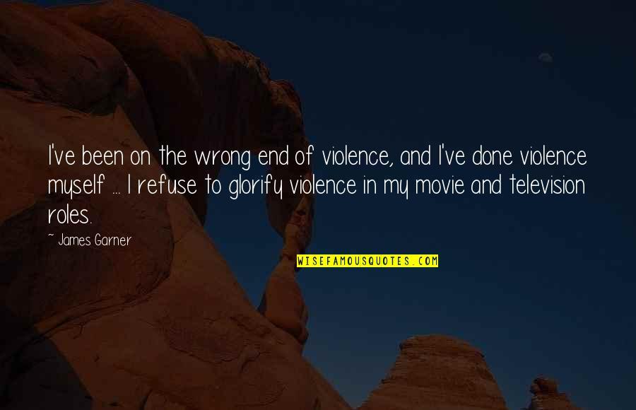 Seinfeld Kramer Quotes By James Garner: I've been on the wrong end of violence,