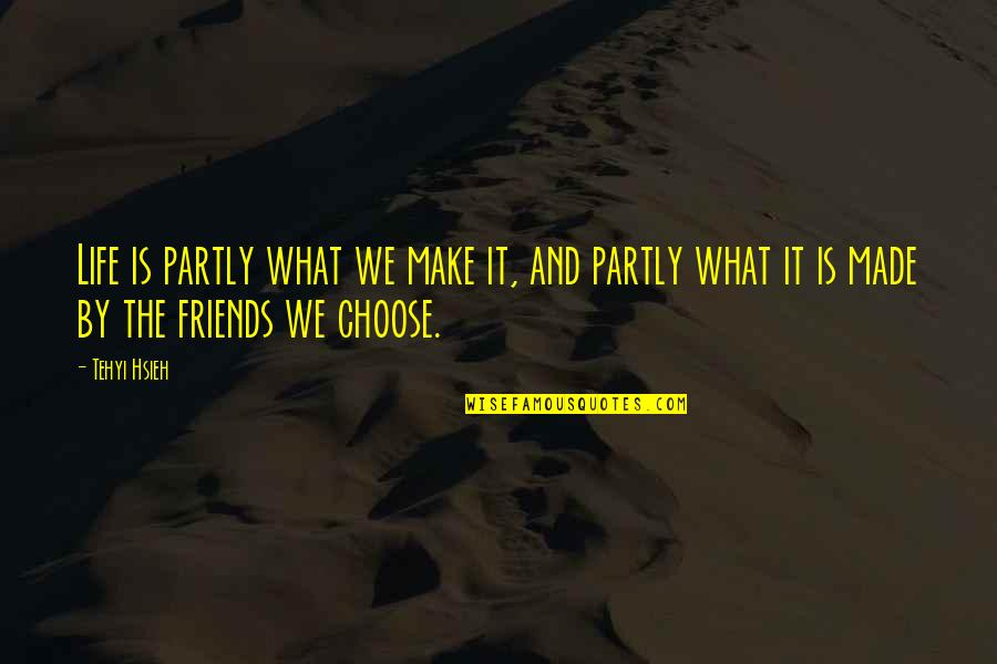 Self And Friends Quotes By Tehyi Hsieh: Life is partly what we make it, and