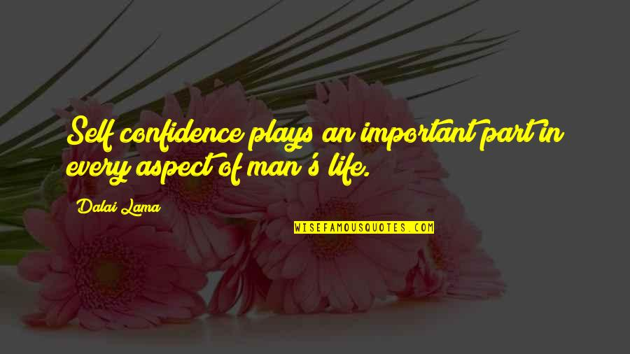 Self Confidence Quotes By Dalai Lama: Self confidence plays an important part in every