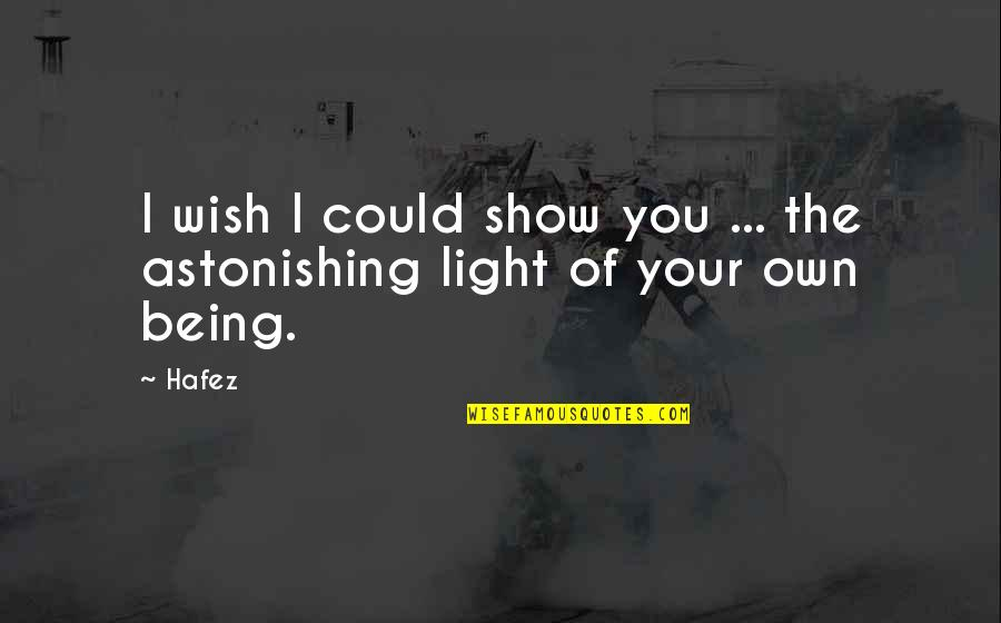 Self Confidence Quotes By Hafez: I wish I could show you ... the