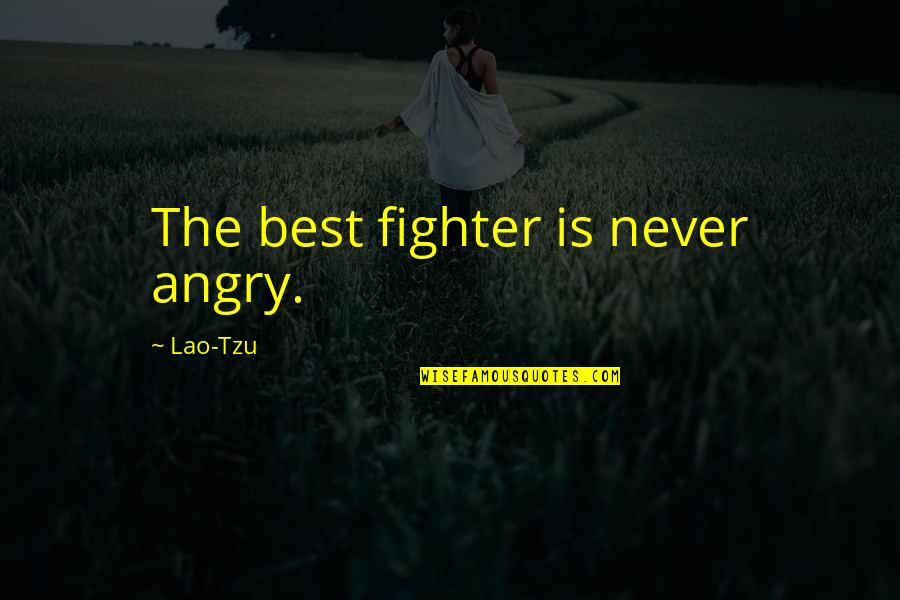 Self Control Anger Quotes By Lao-Tzu: The best fighter is never angry.