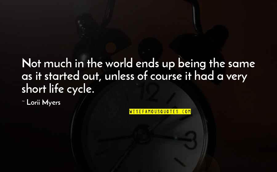 Self Improvement Success Quotes By Lorii Myers: Not much in the world ends up being