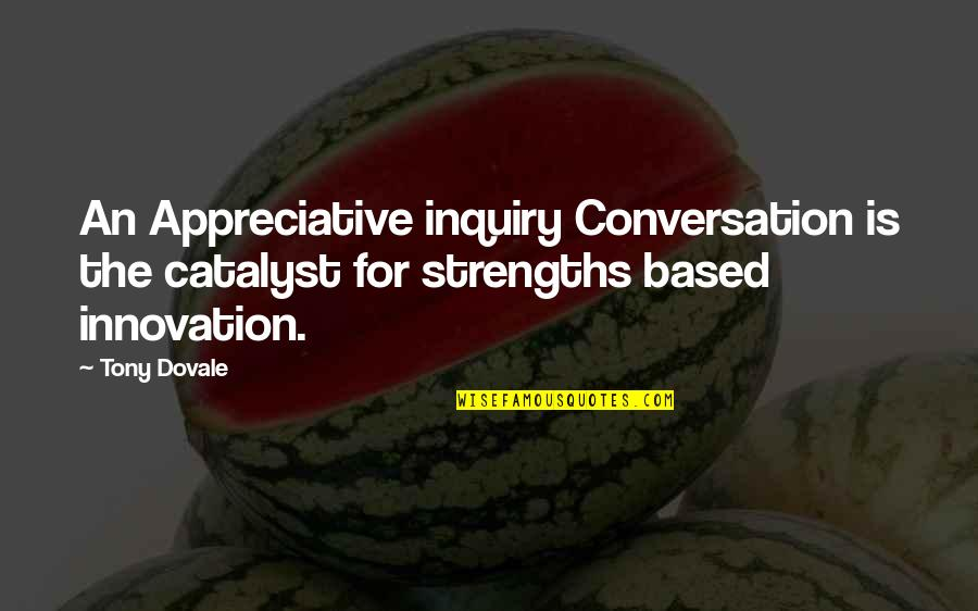 Self Improvement Success Quotes By Tony Dovale: An Appreciative inquiry Conversation is the catalyst for