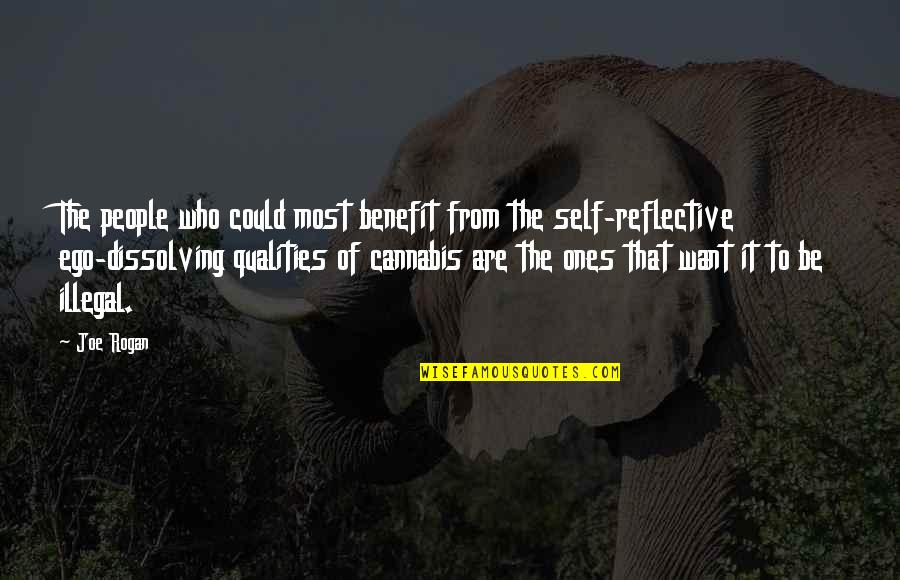 Self Qualities Quotes By Joe Rogan: The people who could most benefit from the