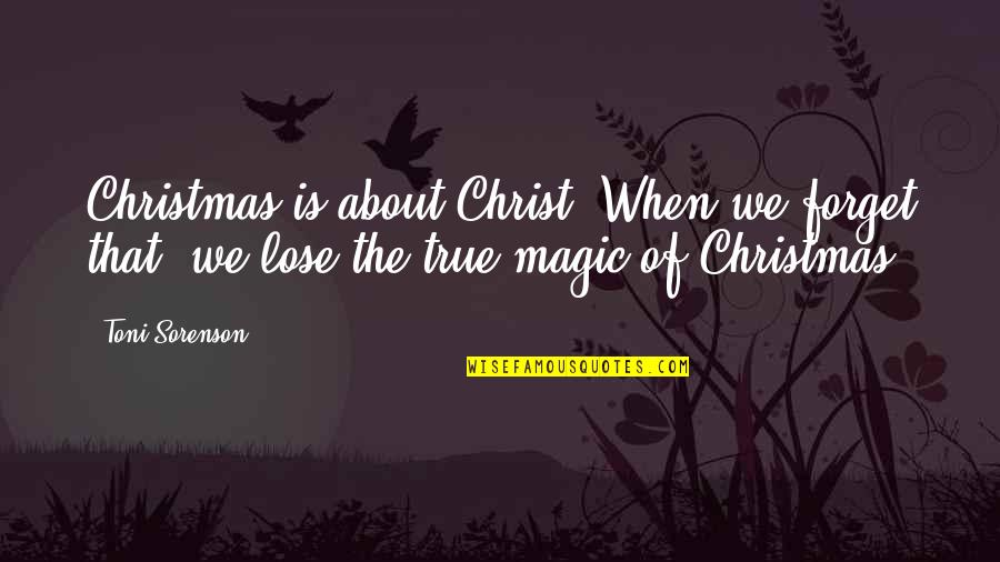 Selfie Sticks Quotes By Toni Sorenson: Christmas is about Christ. When we forget that,