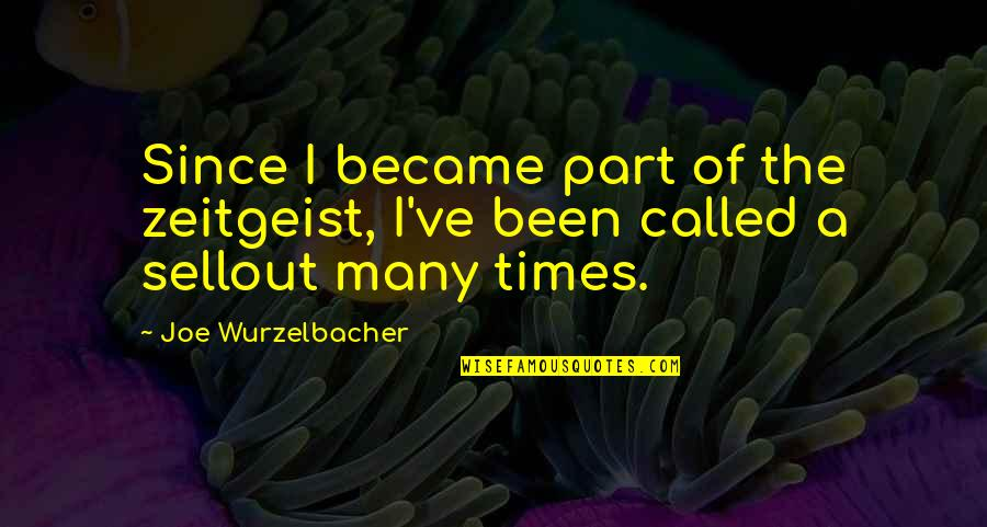 Sellout Quotes By Joe Wurzelbacher: Since I became part of the zeitgeist, I've