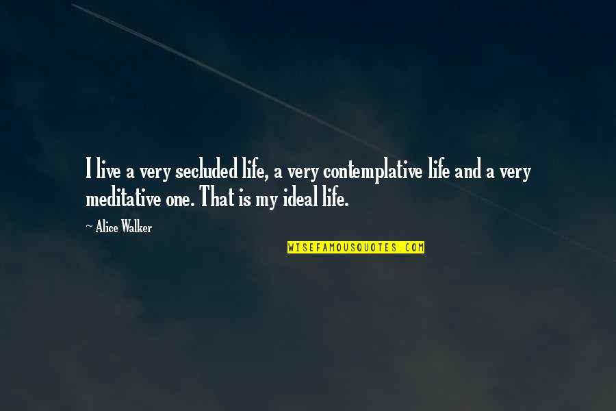 Selosa Love Quotes By Alice Walker: I live a very secluded life, a very