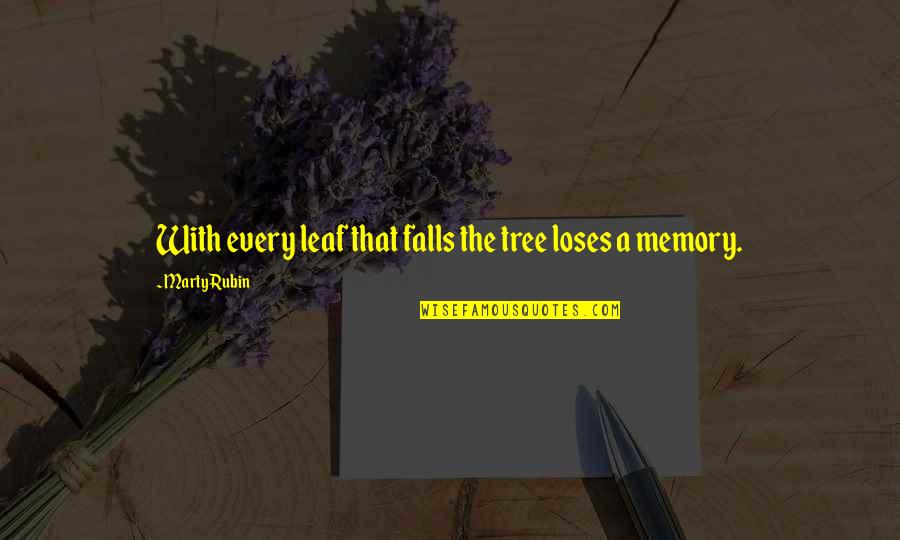 Semmering Quotes By Marty Rubin: With every leaf that falls the tree loses