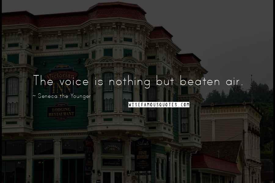 Seneca The Younger quotes: The voice is nothing but beaten air.