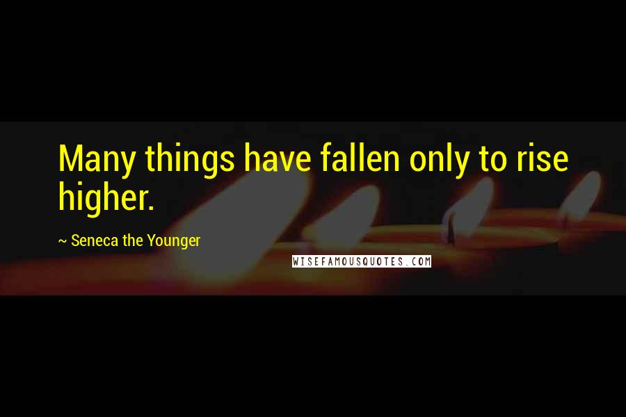 Seneca The Younger quotes: Many things have fallen only to rise higher.
