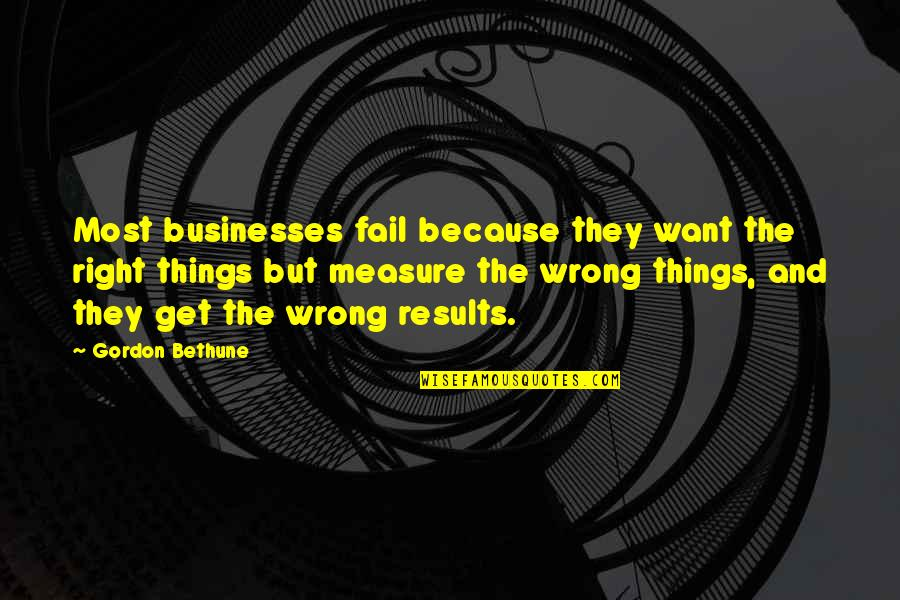 Senior Dance Recital Quotes By Gordon Bethune: Most businesses fail because they want the right