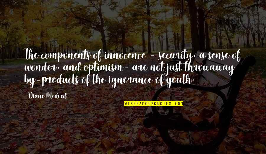 Sense Of Security Quotes By Diane Medved: The components of innocence - security, a sense