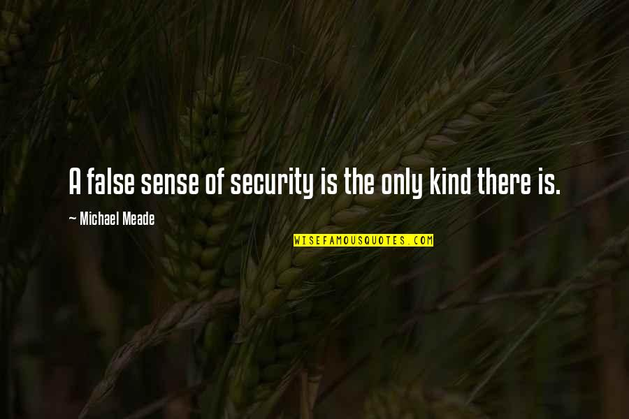 Sense Of Security Quotes By Michael Meade: A false sense of security is the only