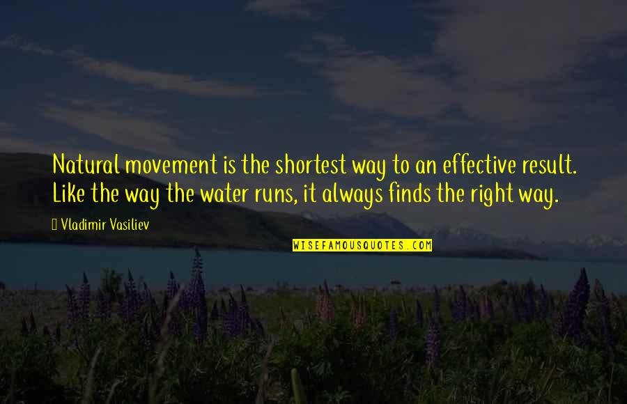 Sensei Quotes By Vladimir Vasiliev: Natural movement is the shortest way to an