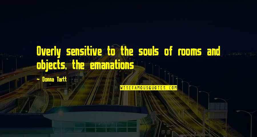 Sensitive Souls Quotes By Donna Tartt: Overly sensitive to the souls of rooms and