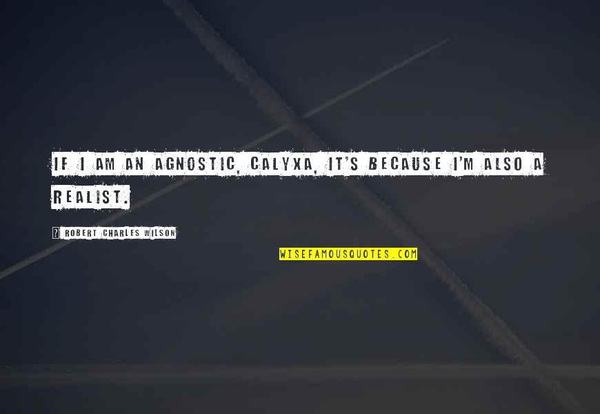Sentimental Brother And Sister Quotes By Robert Charles Wilson: If I am an agnostic, Calyxa, it's because