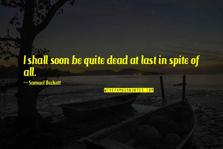 Sentimental Brother And Sister Quotes By Samuel Beckett: I shall soon be quite dead at last