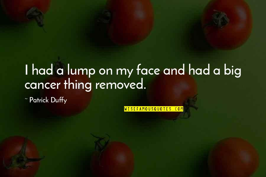 Separate Vocations Quotes By Patrick Duffy: I had a lump on my face and