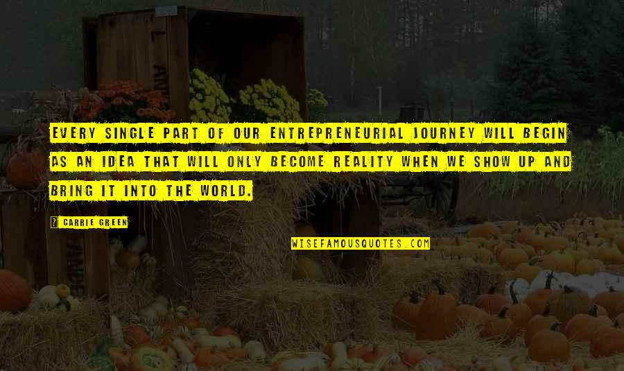 Separative Quotes By Carrie Green: Every single part of our entrepreneurial journey will
