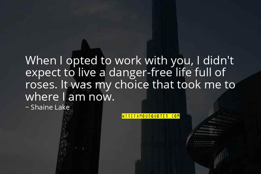 Sepp Dietrich Quotes By Shaine Lake: When I opted to work with you, I